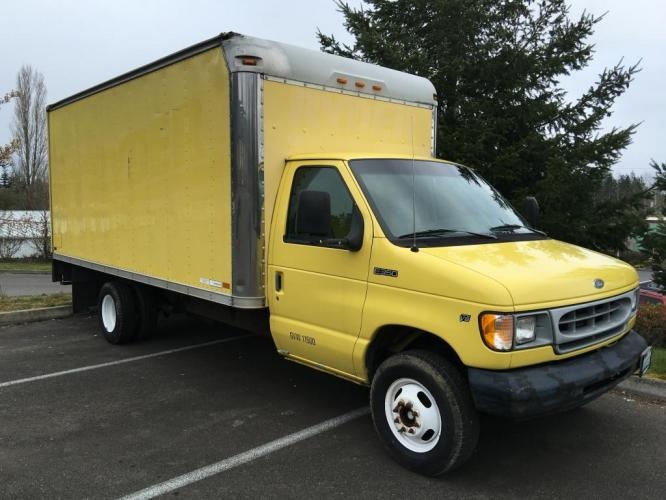 1998 Yellow box truck /Gray Ford Econoline Commercial Cutaway cutaway box (1FDWE37L5WH) with an V-8 engine, Automatic transmission, located at 1283 SE Sedgwick Road, Port Orchard, WA, 98366, (360) 876-9300, 47.505535, -122.635643 - Photo #6