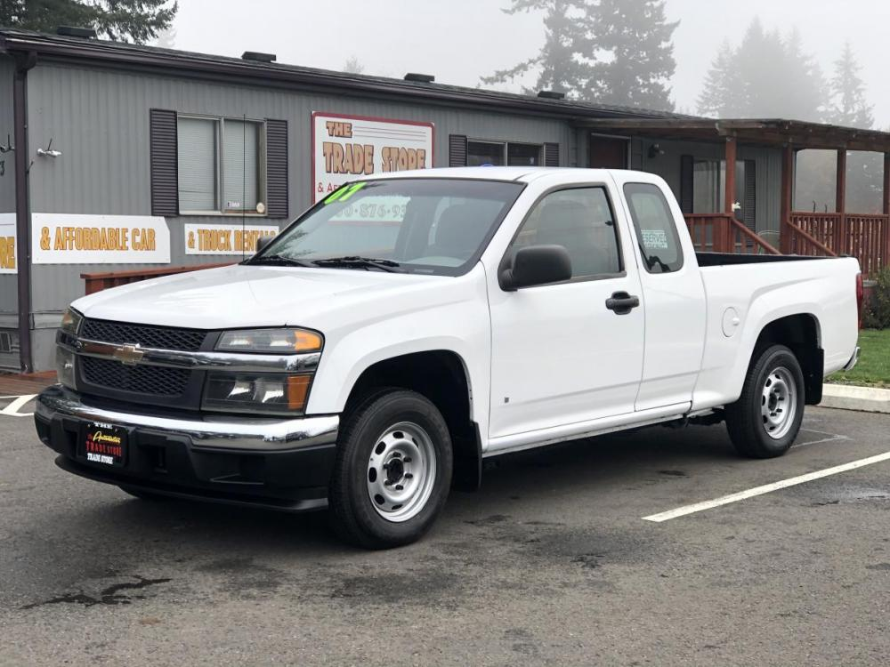 2007 White /Gray Chevrolet Colorado LS Ext. Cab 2WD (1GCCS19E278) with an 3.7L L5 DOHC 20V engine, Automatic transmission, located at 1283 SE Sedgwick Road, Port Orchard, WA, 98366, (360) 876-9300, 47.505535, -122.635643 - Photo #0