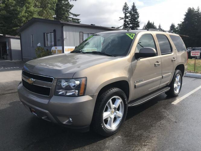2007 Gold /Tan Chevrolet Tahoe LS 4WD (1GNFK13067R) with an 5.3L V8 OHV 16V FFV engine, 4-Speed Automatic Overdrive transmission, located at 1283 SE Sedgwick Road, Port Orchard, WA, 98366, (360) 876-9300, 47.505535, -122.635643 - Photo #0