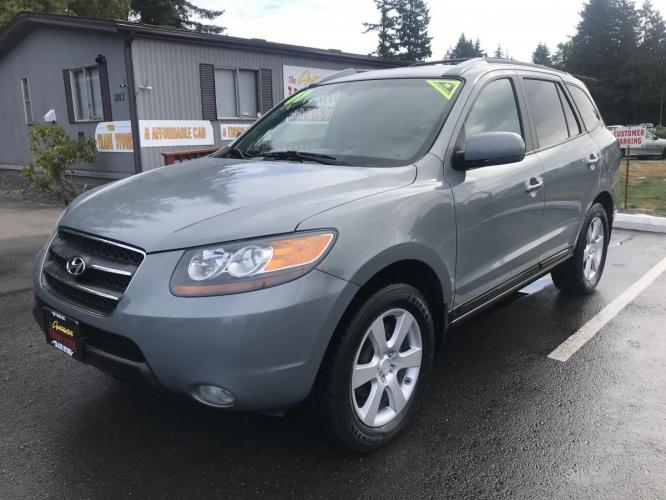2007 Light Green /Gray Hyundai Santa Fe Limited (5NMSH13E97H) with an 3.3L V6 DOHC 24V engine, 5-Speed Automatic Overdrive transmission, located at 1283 SE Sedgwick Road, Port Orchard, WA, 98366, (360) 876-9300, 47.505535, -122.635643 - Photo #0